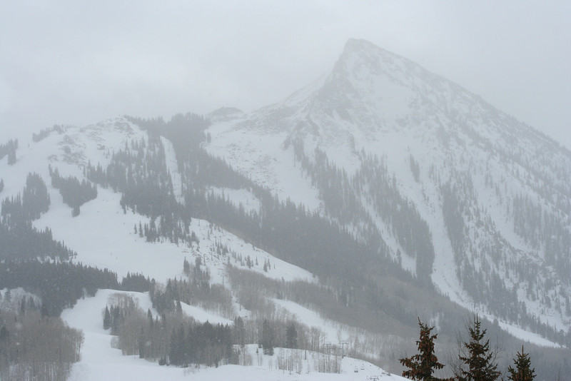 Snowy morning at Mt. Crested Butte