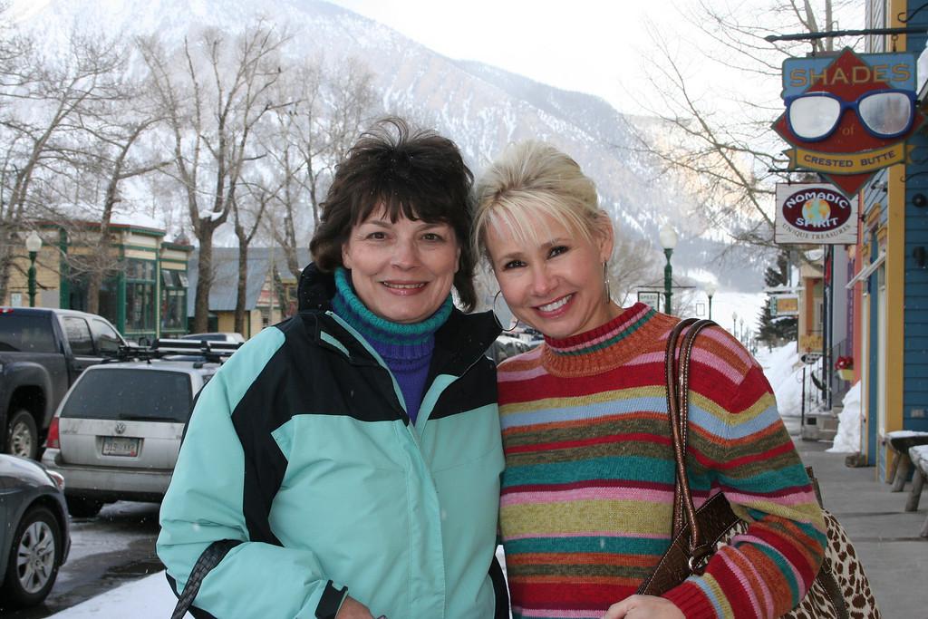 My new traveling buddy - Karen Fortner.