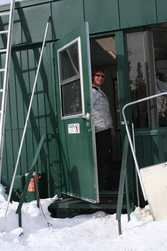 Patrick working top of Red Lady chairlift