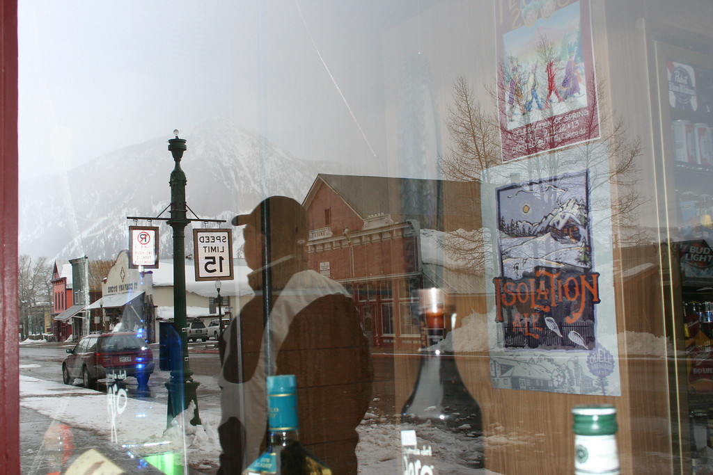 Reflections in downtown Crested Butte