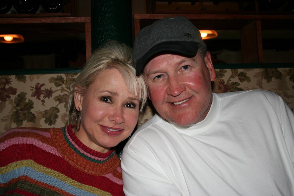 Karen and Gary Fortner<br /> Dinner at Garlic Mikes