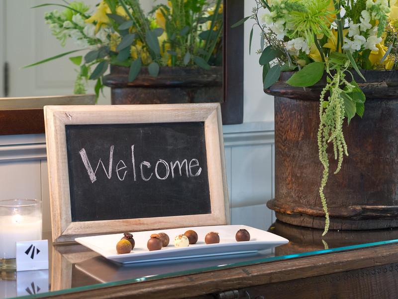 Welcome with Chocolate
