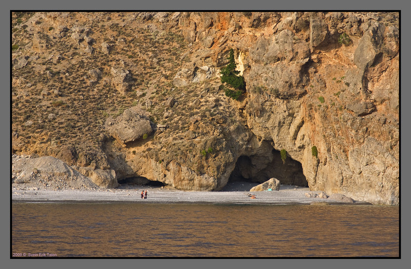 One of several small beaches on the Sfakian coast - small and special