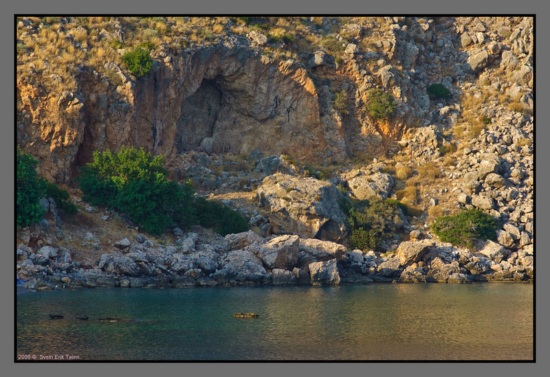Cliffs at the eastern part of Loutro bay