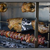 Lamb, chicken and pork slowly roasting... Restaurants in the eastern part of Loutro specialize in grill
