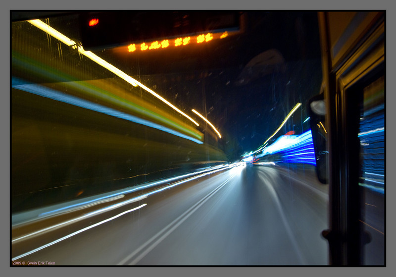 Speedy bus ride, going the highway to Chania