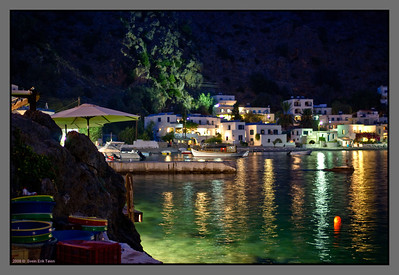 Night at Loutro - but lots of light...