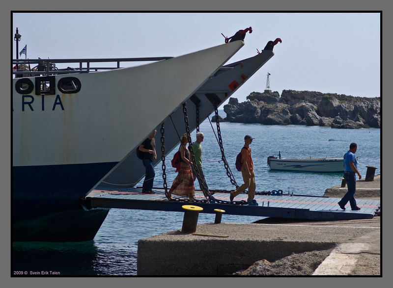 """Ferry """"Samaria"""" has its first visit today..."""