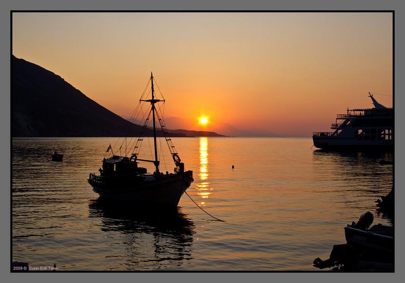 Sunrise at Loutro harbour