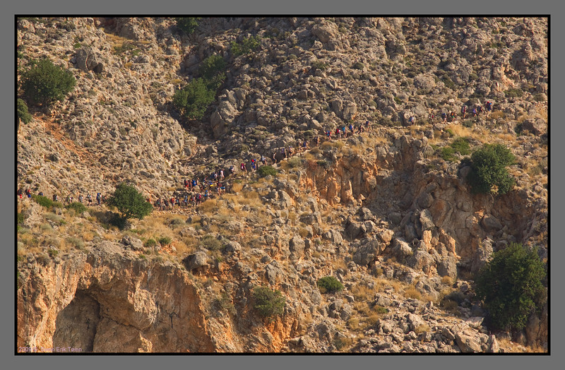 About 60 Swedish teenagers doing the hike from Loutro to Sfakia
