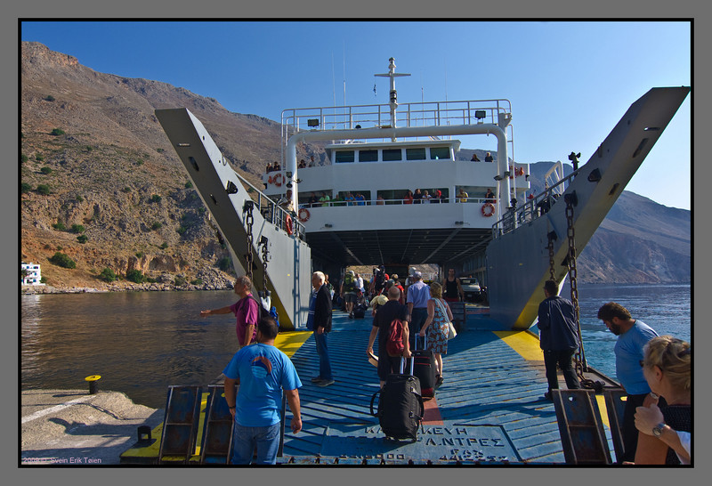 Arriving at Loutro