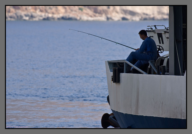 ...long enough for the crew to catch some fish...