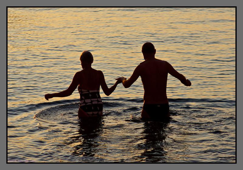 Morning bathing couple - I