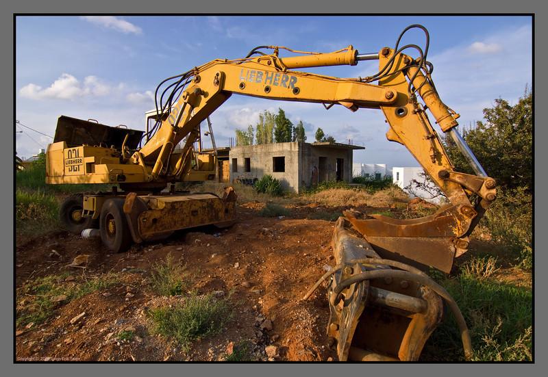 Building site at halt