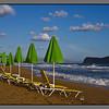 Green umbrellas