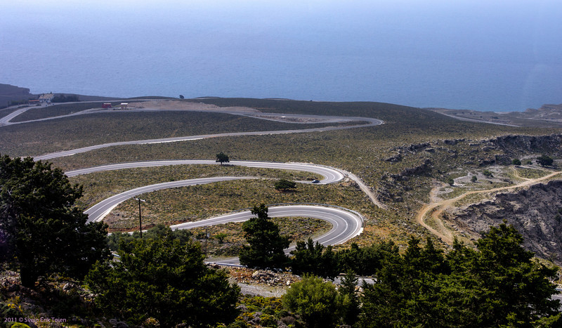 Going there - the winding road down to Chora Sfakion