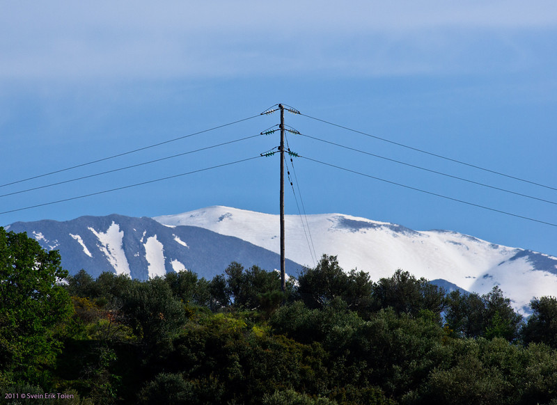 Lefka Ori - the White Mountains - looming behind the hills above Kato Stalos