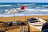 Windy spring, Kato Stalos beach