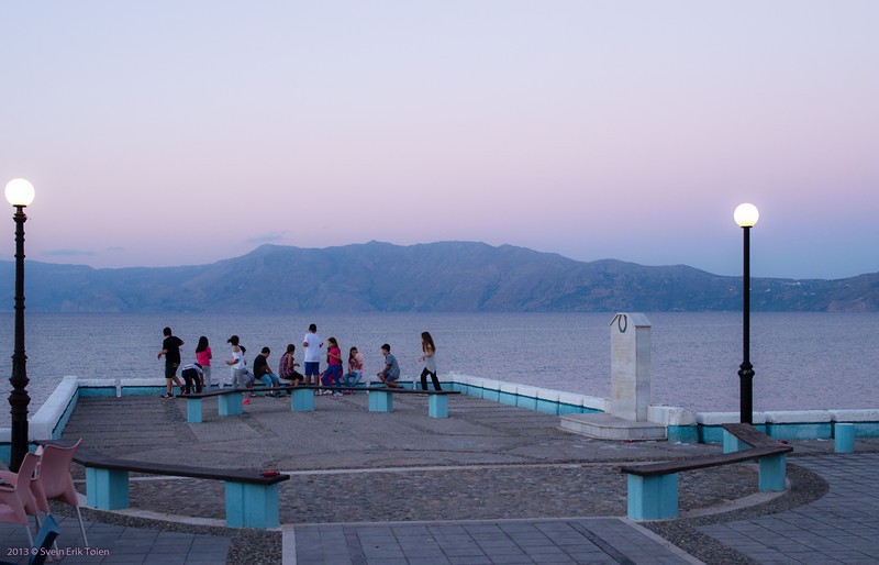 Playing by the seafront - Kissamos bay