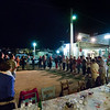 Gathering for dance<br /> German travel group on Greek dance course