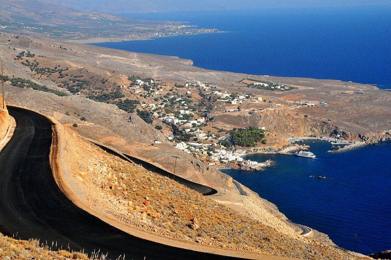 Town of Sfakia from the road to Aradena