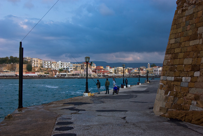 Fishing at Chania old harbour