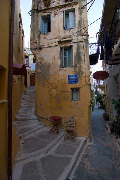 Narrow streets, narrow houses I<br /> Chania old city