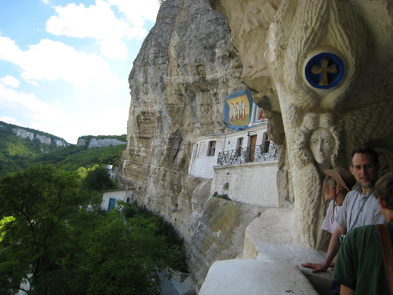 Bakchasarai, Crimea - Orthodox cliff-dweller church and monastery