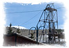 A gold mine elevator, photographed in Cripple Creek, Colorado