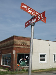 Corner of Main  and Spruce and crabs