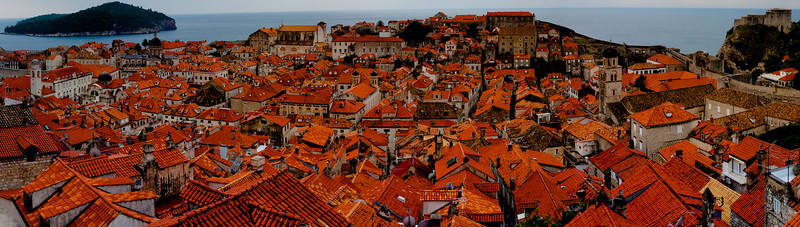 The Old City viewed from the North Wall, Dubrovnik, Croatia