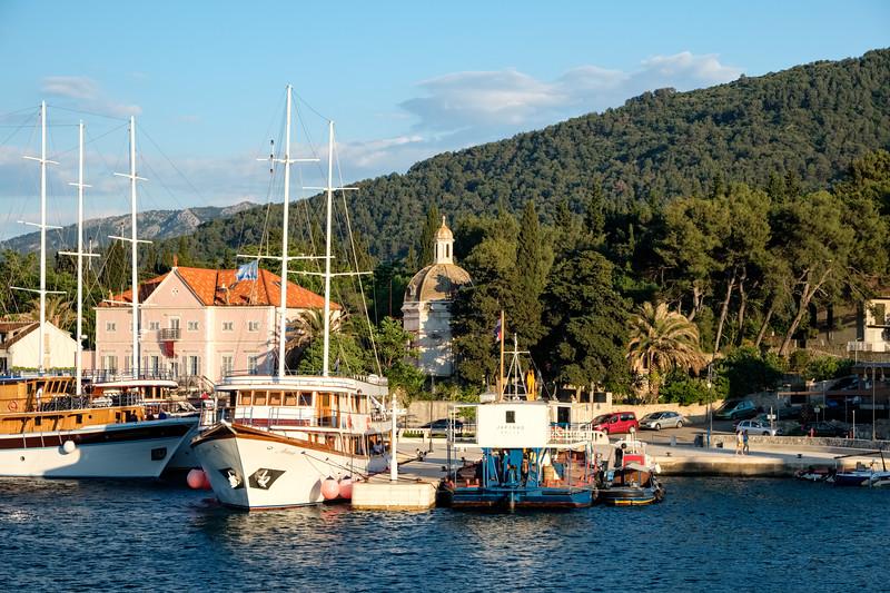 Arriving in Stari Grad on the island of Hvar