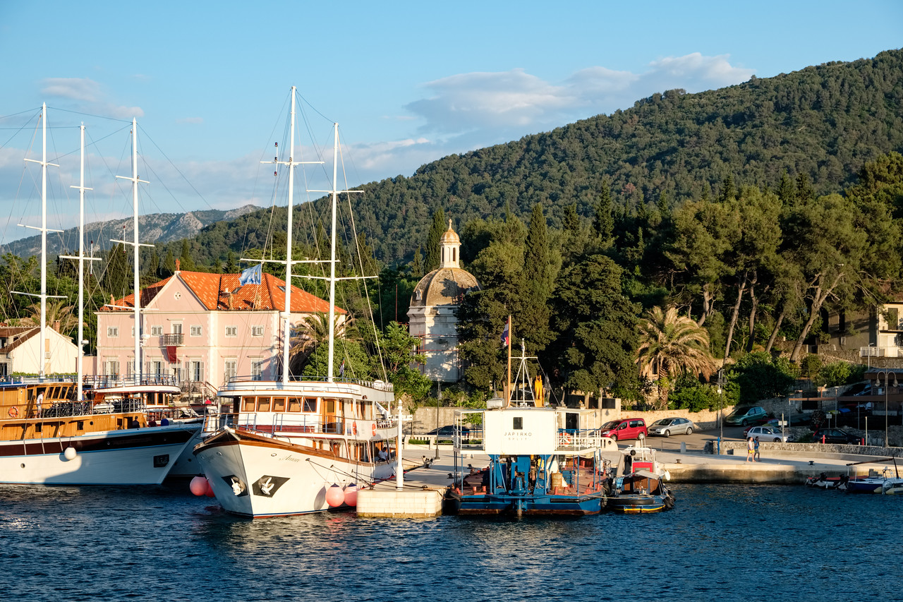 Arriving in Stari Grad on the island of Hvar