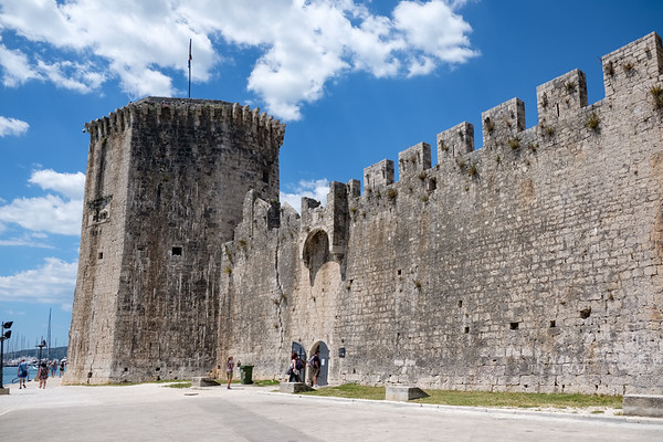 The fortress by the harbor in Trogir
