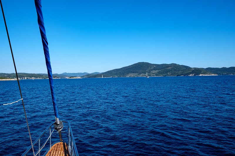 Heading to the island of Korcula