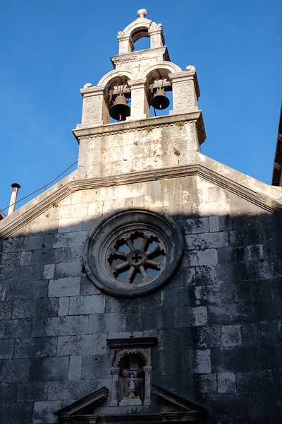 The old church in Korcula.