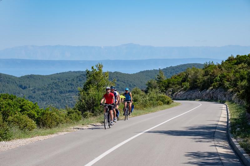Climbing out of Vela Luka
