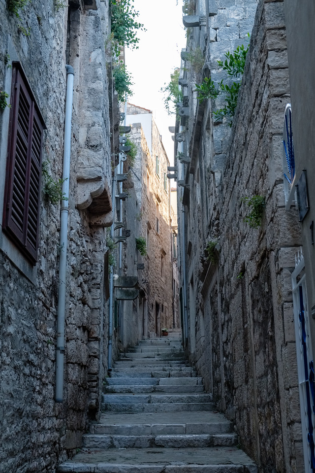 A narrow street in Korcula.