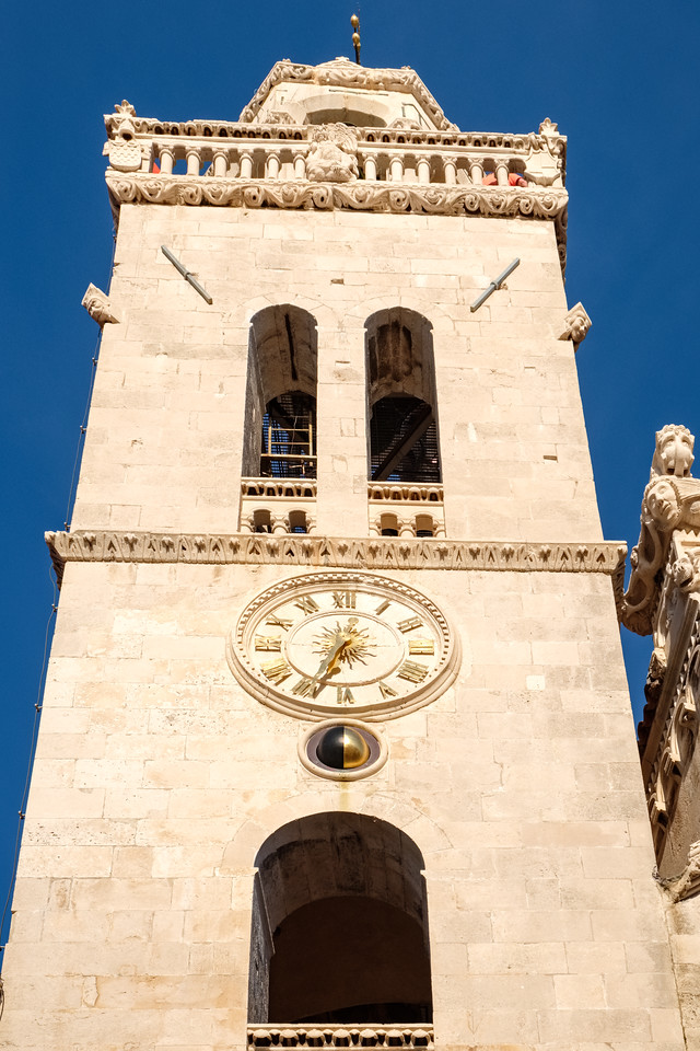 Clock tower in Korcula