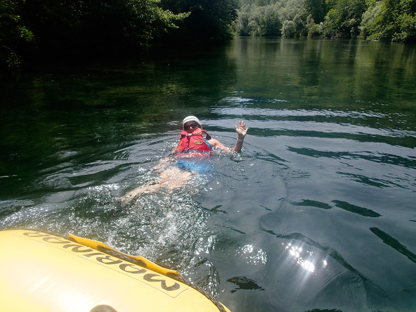 Lisa swimming in the Cetina River