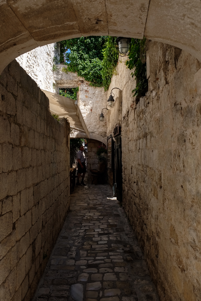 Narrow streets of Trogir