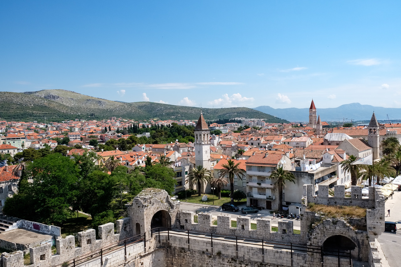 View of Trogir from Kamerlengo Castle