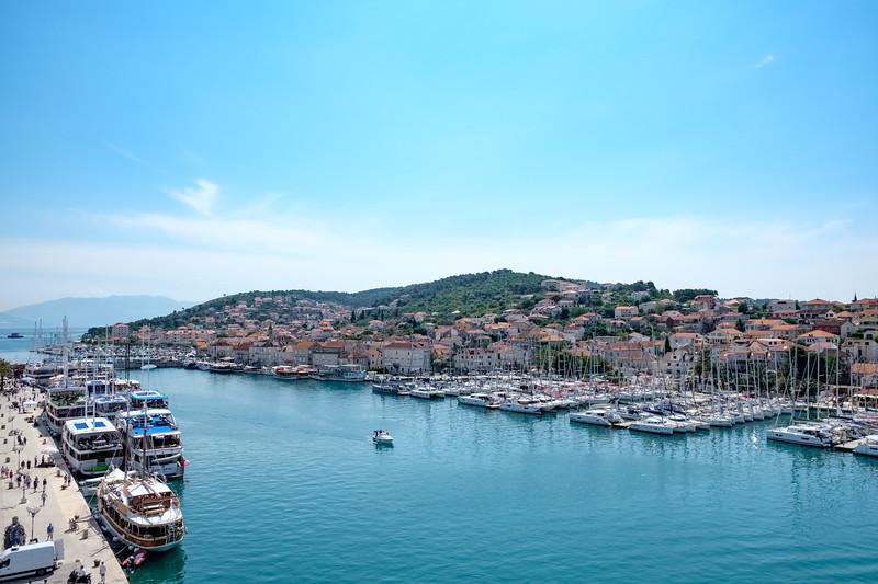 Trogir marina from Kamerlengo Castle