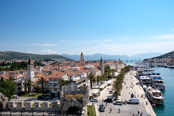 The view from Kamerlengo Castle over Trogir