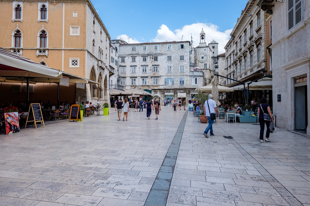 The square in Diocletian's Palace
