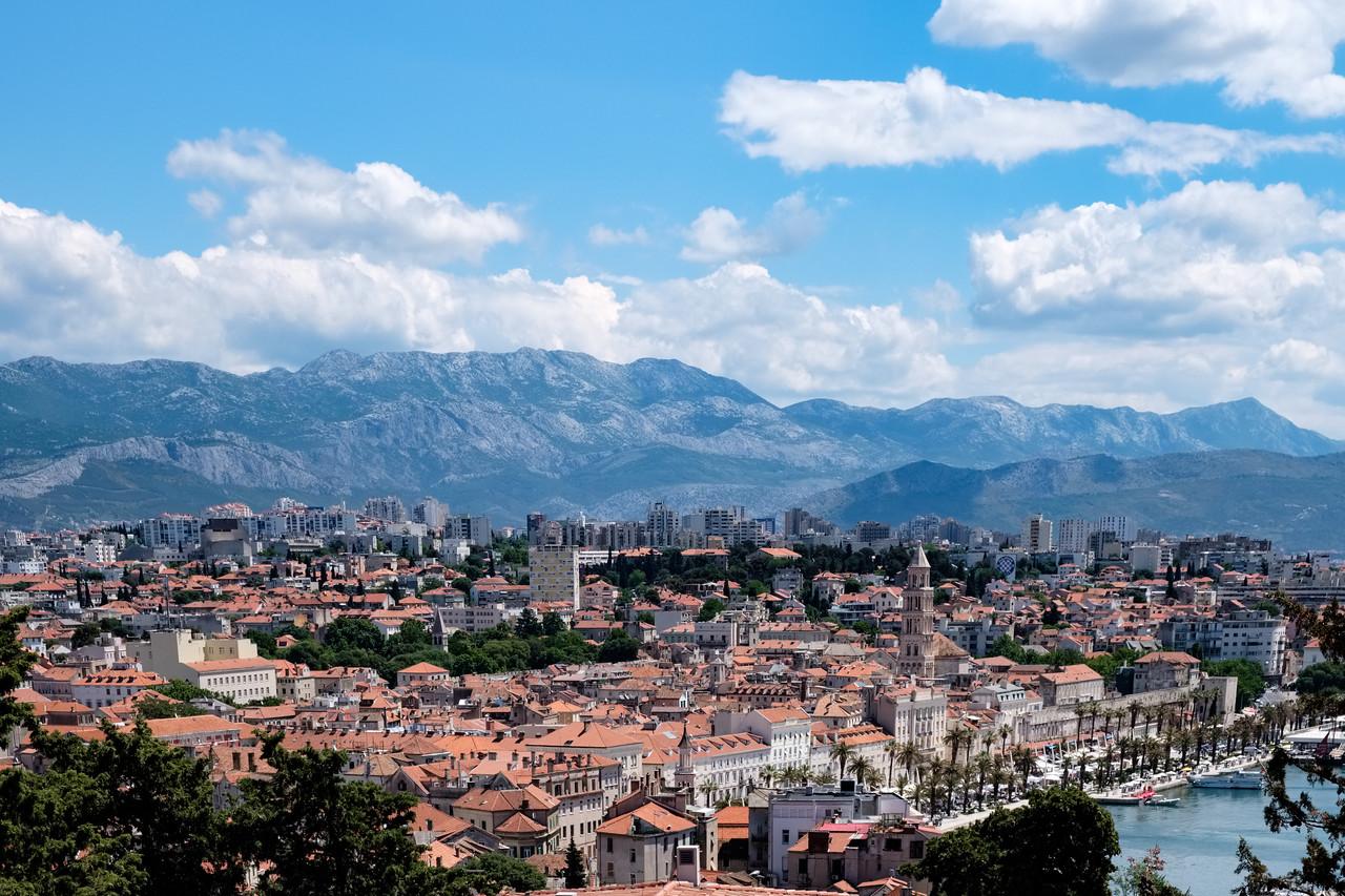 The view of Split from Marjon