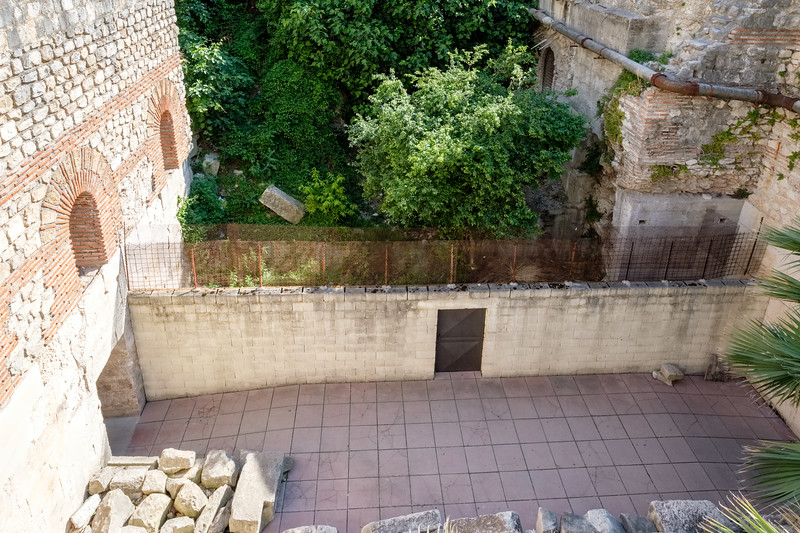 Looking back down into a basement courtyard where I took a previous photo