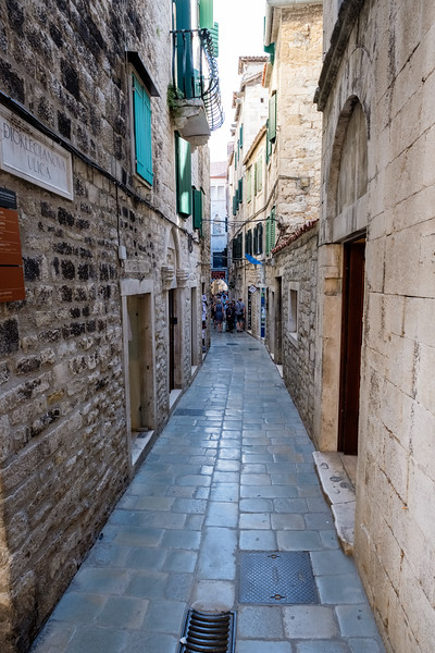 A street view in Diocletian's Palace