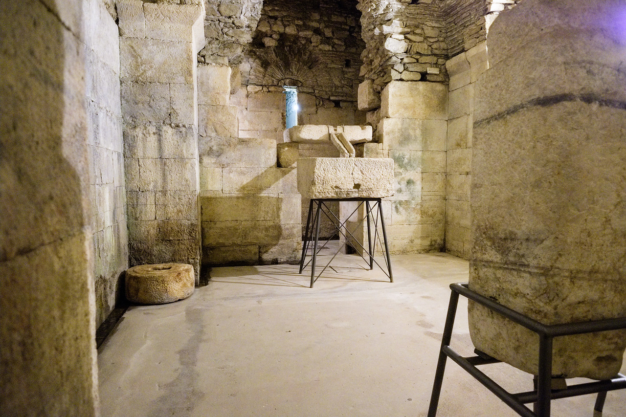 In the basement of Diocletian's Palace