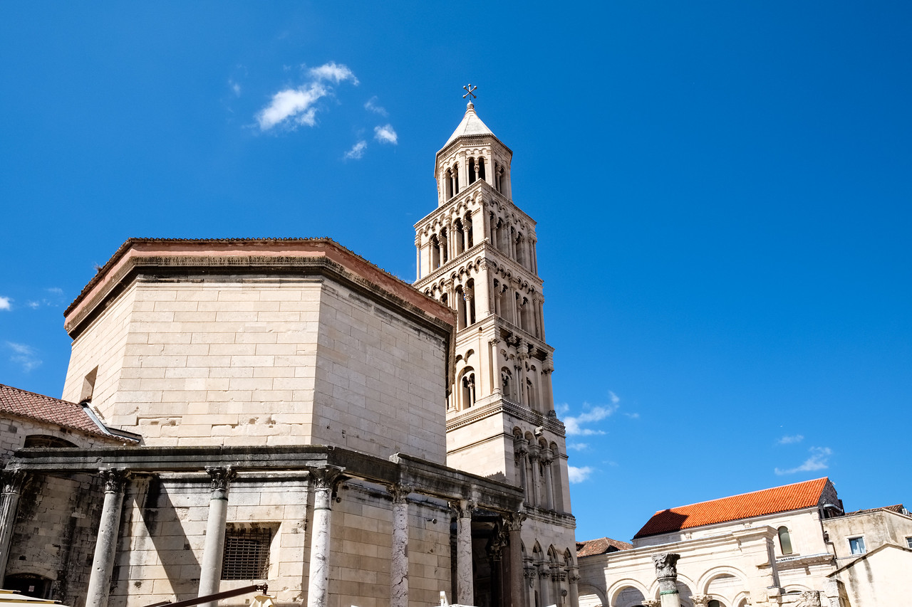 Baptisery and cathedral tower in Diocletian's Palace